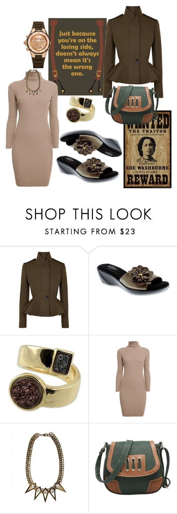 """""""Untitled #3304"""" by pampire ❤ liked on Polyvore featuring Alexander McQueen, Walking Cradles, NOVICA, Rumour London, Nicole Romano and Michele"""
