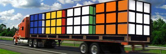 Rubic cube truck: