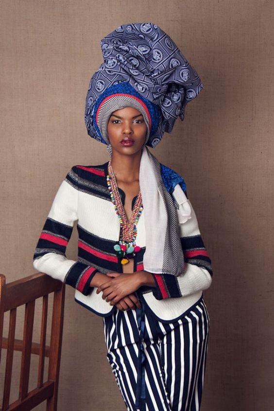 """The Head Dress"" Editorial by South African photographer Lauren Fletcher #stripes:"