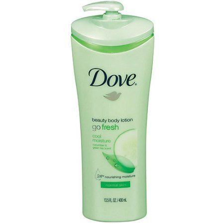 Dove Go Fresh Cool Moisture Cucumber & Green Tea Beauty Body Lotion for Normal Skin, 13.5 fl oz