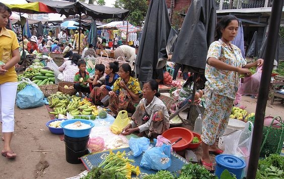 Fruit and vegetable market, Cambodia