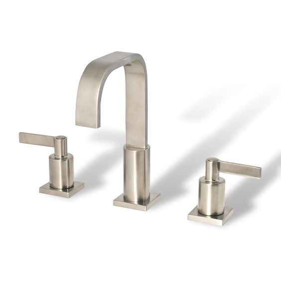 Decor Star WPC01-TB Contemporary Bathroom Vanity Sink Widespread Lavatory Faucet cUPC NSF AB 1953 Lead Free Brushed Nickel - Touch On Bathroom Sink Faucets - Amazon.com