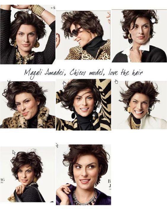 Chico's Model Magali Amadei Haircut   Magali Amadei, Chicos model ...