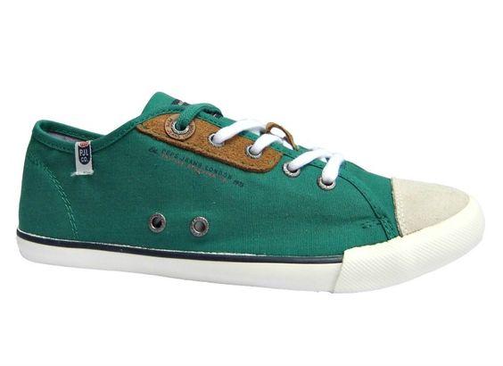 Ανδρικά παπούτσια casual Pepe Jeans από υφασμα και καστορι χωρίς φόδρα με συνθετική σόλα.