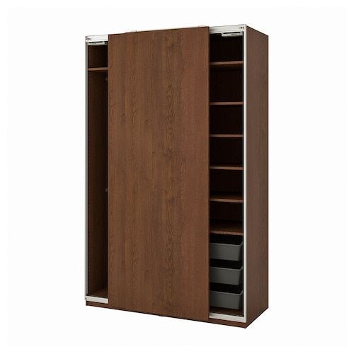 Bissa Shoe Cabinet With 3 Compartments Black Brown 19 1 4x53 1 8 In 2020 Pax Wardrobe Ikea Wardrobe Ikea Pax Wardrobe