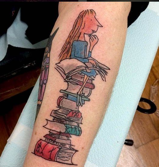 Book tattoo, Book and Tattoos and body art on Pinterest