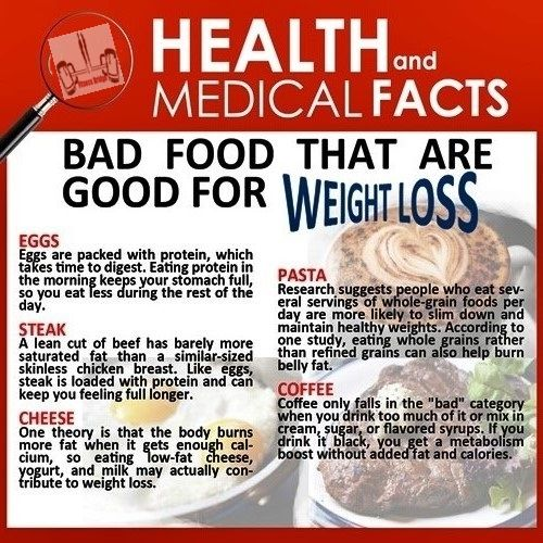 Health and medical facts: Bad food that are good for weight loss