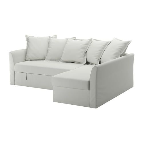 HOLMSUND Sleeper sectional, 3 seat Nordvalla medium gray