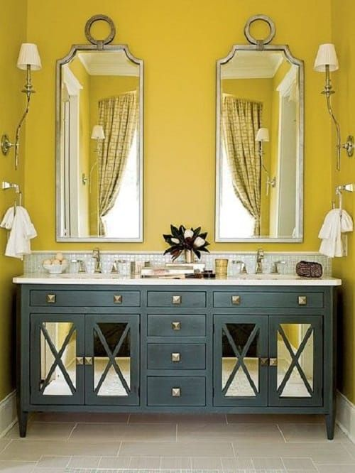15 Gorgeous Colored Bathroom Vanity Ideas For Your Bathroom