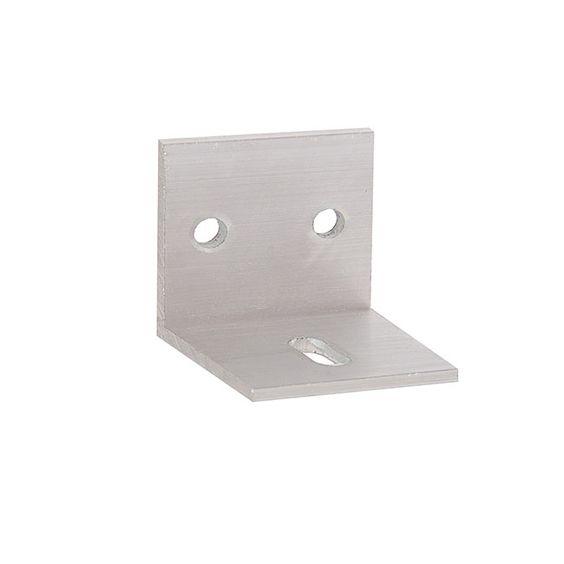 Herrajes para puertas abrazadera ra l aluminio u 30 for Puertas correderas colgadas