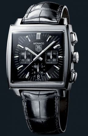 Tag Heuer Monaco in black