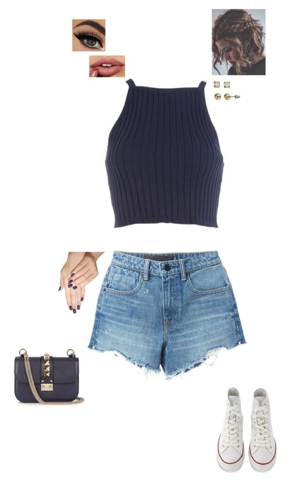 """""""26.9.16"""" by jesshorne2016 ❤ liked on Polyvore featuring Alexander Wang, Converse, SO, Piggy Paint and Valentino"""