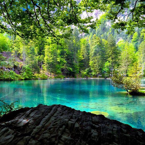Places To Visit In Switzerland Blog: Blausee, Bern, Switzerland