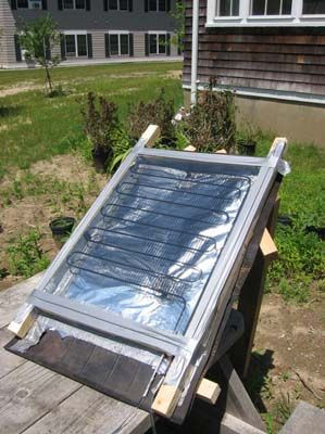 Make a solar water heater for under $5  ...other goodies here too.