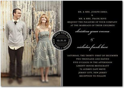 Sealed Squares photo wedding invitation