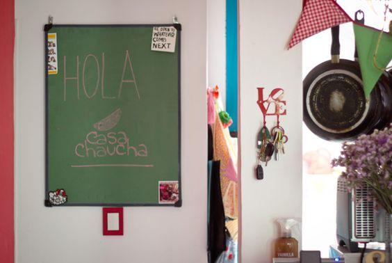 Casinha colorida: Home tour: na Argentina