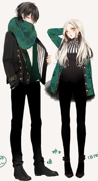 draw a matching couple colors outfit #wreckthisanime: