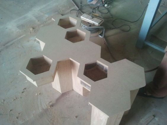 Making of Honeycomb table