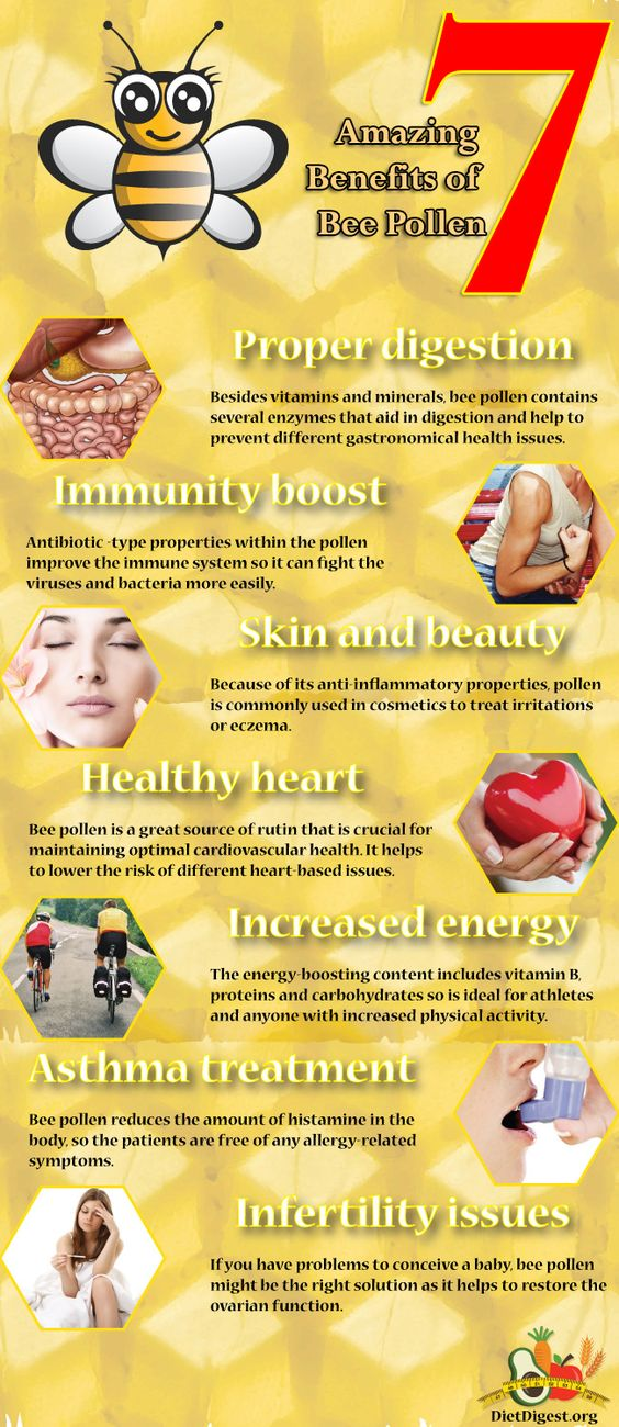 7 amazing benefits of bee pollen #health #nutrition #diet https://www.facebook.com/foreverlivingep