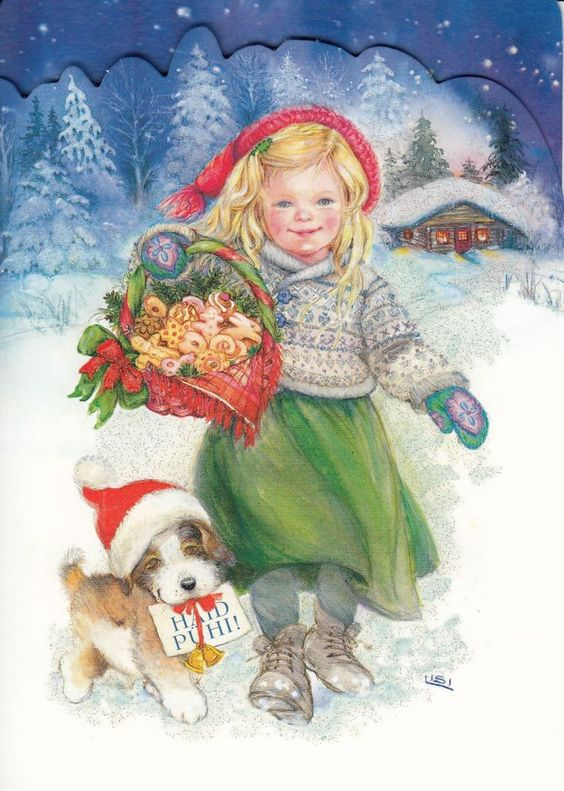 New double Christmas card by Lisi Martin: