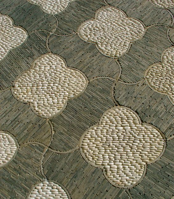 stone paving detail in the Chinese Garden at The Huntington Library Botanical Gardens, San Marino, CA (near Pasadena)
