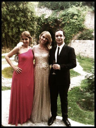 Fotos de la boda de Patricia Conde y su chico Carlos Seguí:  Nuestra novia iba vestida con una creación en color champán diseñado por Elie Saab... ¿Qué tal os parece el vestido de novia?