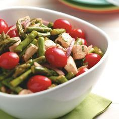 Asparagus Mozzarella Salad -   This is a must for my summer b-day bash!