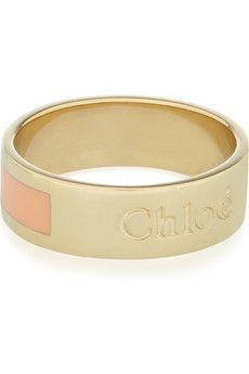 Chloe - Holly enameled ring
