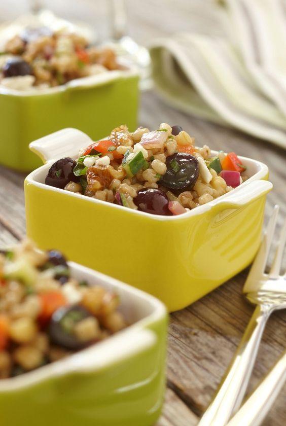 Wheat Berries, Grapes, Cucumber & Feta