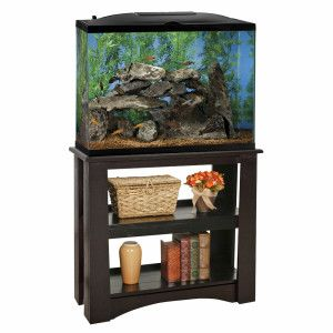 Marineland 37 gallon led hood aquarium stand ensemble for Fish tank hood