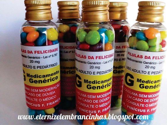 Eternize Lembrancinhas: Pílulas da Felicidade para Formatura de Medicina!