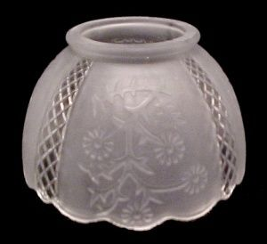 4 In Gas Light Lamp Shade Frosted Glass Floral Chandelier