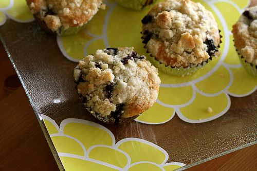 Browned Butter Fresh Blueberry Muffins by joy the baker