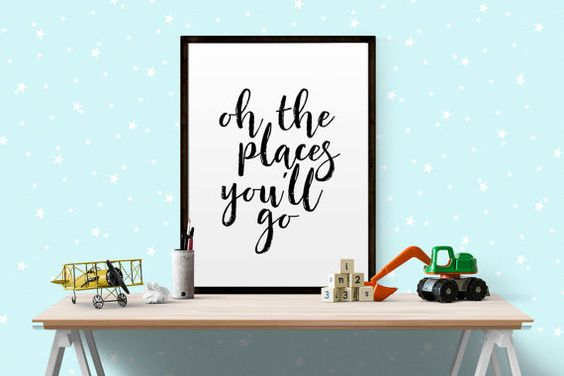 Typography Print Printable Wall Art Oh the by BeautyAndStyleDesign