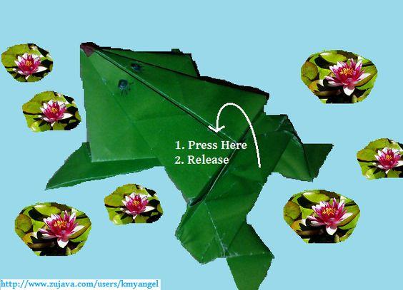 Order a paper frog that hops