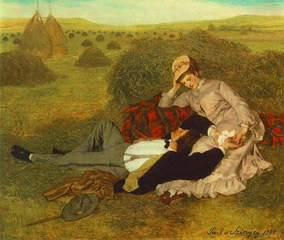 Paul Szinyei Merse 'Lovers' 1870