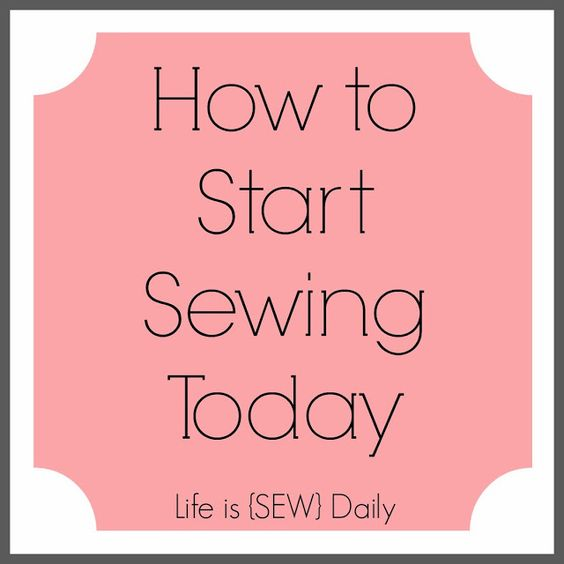 How to start sewing today easy step by tutorial