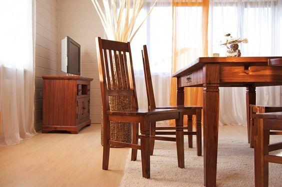 Essgruppe 180cm Siena - Esstisch \ 6 Stühle - Akazie massiv - küchentisch mit stühlen