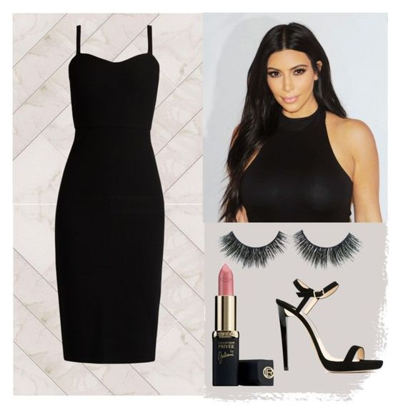 fantasia kim kardashian by gabrielle-bianchi on Polyvore featuring moda, MaxMara and Jimmy Choo: