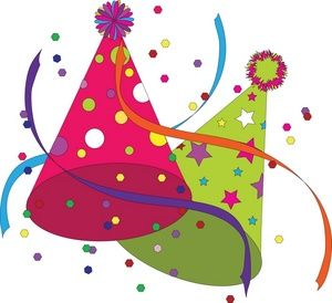 Happy Birthday Hat Clip Art -# clipart | Your party once a year ...
