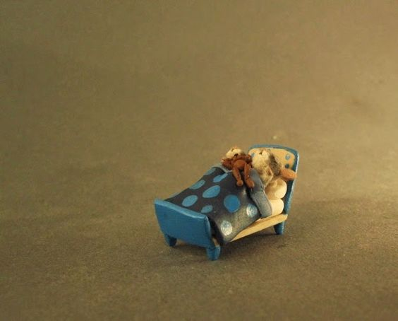 Aleah Klay Studio: Miniature Twin baby mice sleeping one of a kind sc...