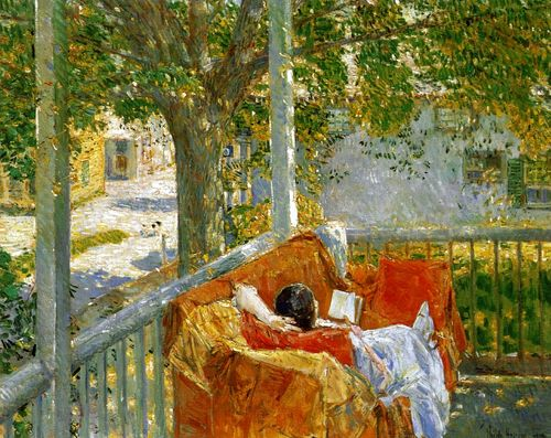 Couch on the Porch, Cos Cob ~ Childe Hassam