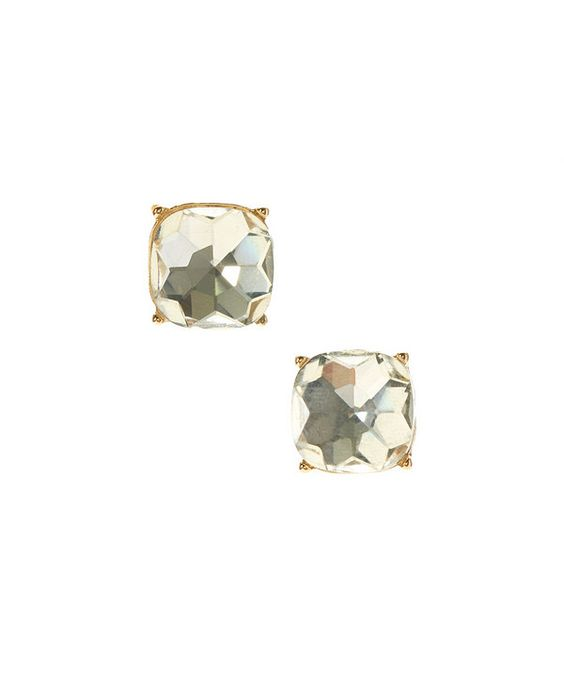 Look at this Crystal & Gold Four-Corner Stud Earrings on #zulily today!
