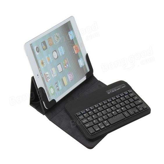 Bluetooth Wireless Keyboard With Folding Stand Case For iPad Mini - US$23.99