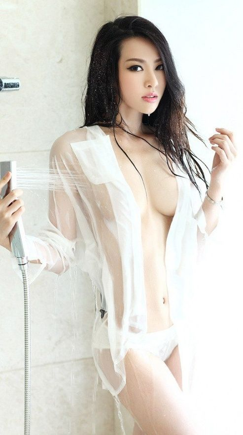 in shirt wet Asian girl t