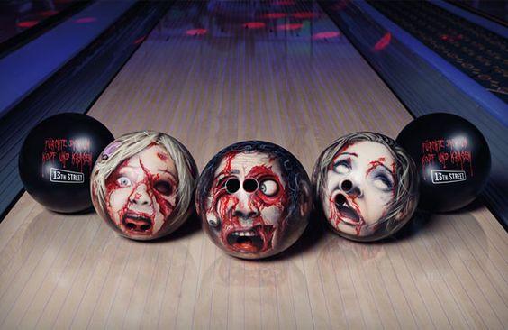 Zombie head bowling balls!  http://www.waycoolgadgets.com/zombie-bowling-balls/  #zombies #bowling