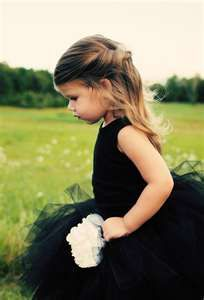 flower girl...black tutu