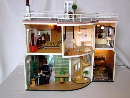1930s Art Deco Dolls House 3 (pic 2/2)