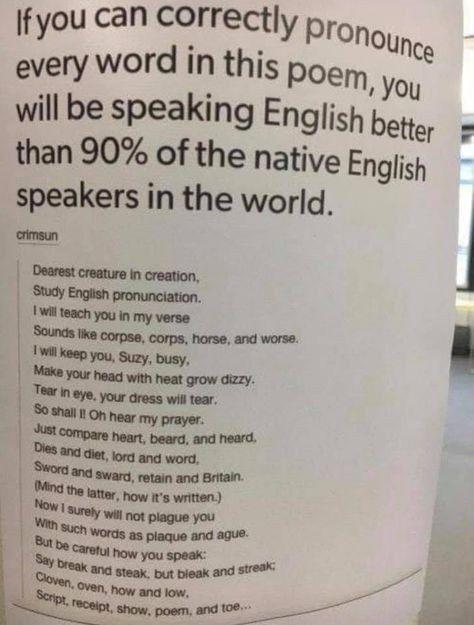 Quick List Appreciates English Language Struggles Language Jokes Writing Words Learn English Words