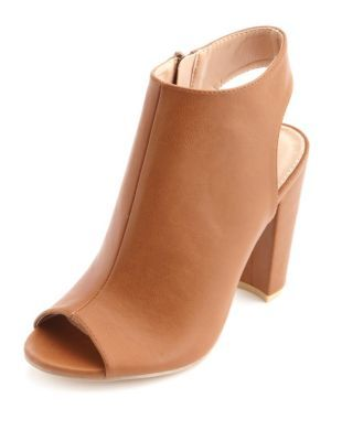 peep toe slingback chunky heels | These Boots were made for